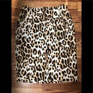 Chico.      Leopard print skirt